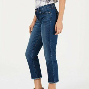 Style & Co Straight Crop Fray Jeans Sz 6 NWT